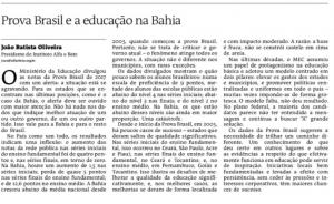 A TARDE - 31 AGO 18 - Prova Brasil e a educação na Bahia (1)