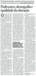 situação dos professores no Brasil